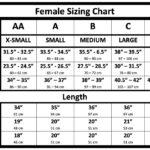 Radiation Protection Lead Apron Female Sizing Chart