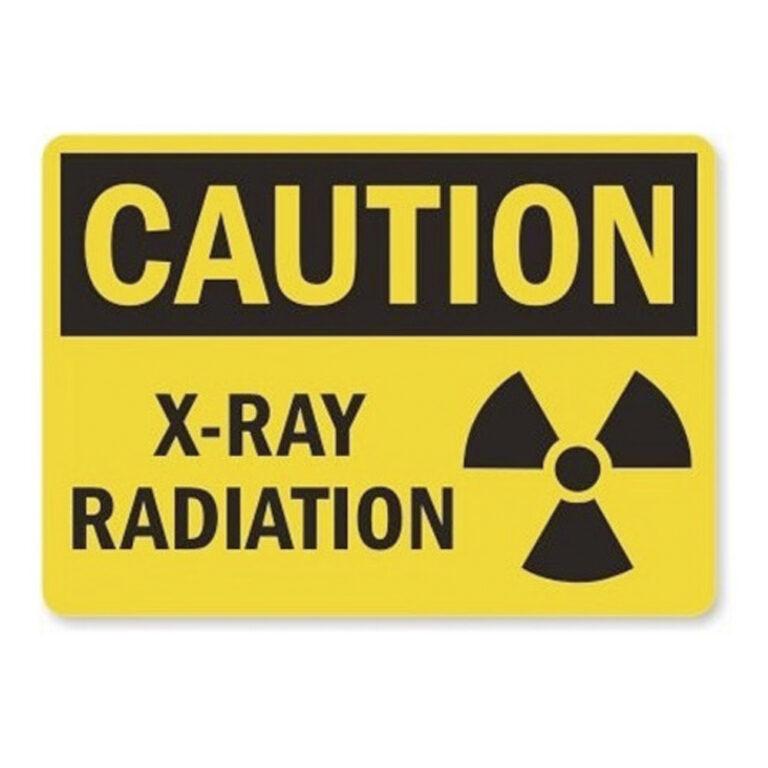 black and yellow caution xray caution