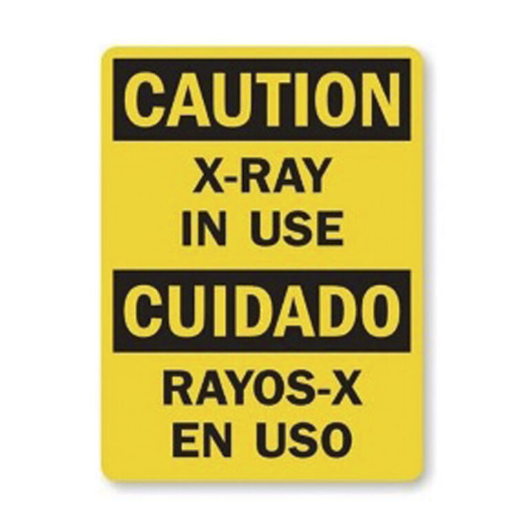 xray in use sign