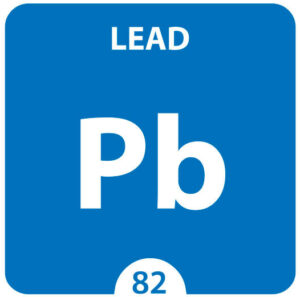 """Lead Chemical 82 element of periodic table. Molecule And Communication Background. Lead Chemical Pb, laboratory and science background. Essential chemical minerals and micro elements""""n"""